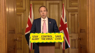 英國衛生大臣:倫敦17%人口曾感染新冠病毒
